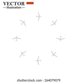 Fashion Icon Aircraft, vector illustration, EPS 10