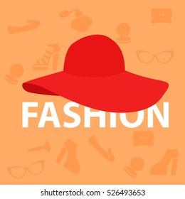 Fashion icon. fashionable hat. fashion logo