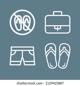 d2628c47e92a Fashion icon set - outline collection of 4 vector icons such as suitcase