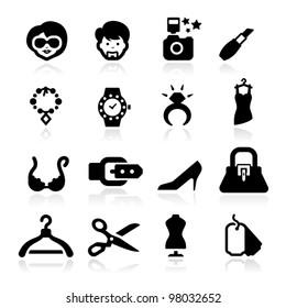 Fashion icons set elegant series