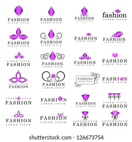 Fashion Icons Set - Isolated On White Background - Vector Illustration, Graphic Design Editable For Your Design. Fashion Logo