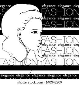 fashion illustration background  - vector illustration