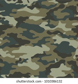 Fashion illustration. Camouflage vector print