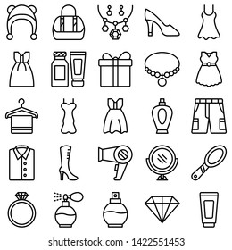 Fashion Isolated Vector Icons pack which can easily modify or edit
