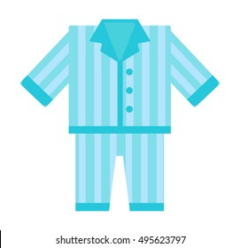 Fashion kid art comfort blue pajamas doodle vector