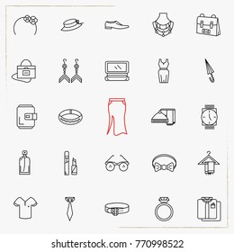 fashion line icons set