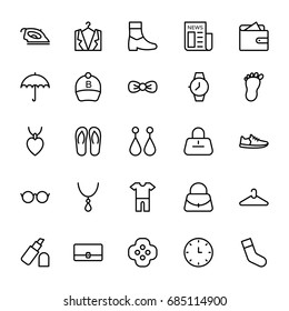 Fashion Line Vector Icons 4