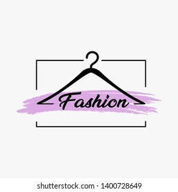 Fashion logo design with a hanger combination