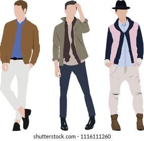 Fashion look illustration