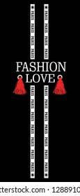 fashion love,paris,for t-shirt slogan