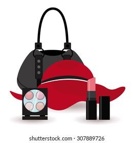 fashion make up design, vector illustration eps10 graphic
