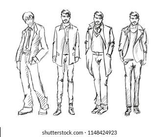 Men Fashion Sketch Images, Stock Photos \u0026 Vectors