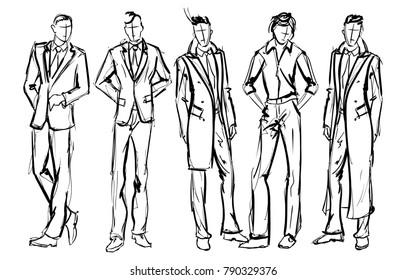 Mens Clothing Sketches Art