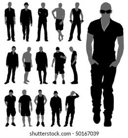 fashion man silhouettes