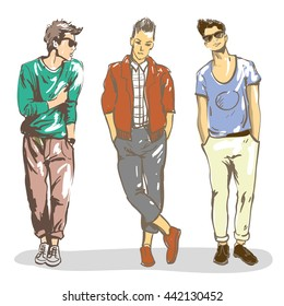 men fashion vector images stock photos vectors shutterstock rh shutterstock com Male Face Vector Male Silhouette Vector
