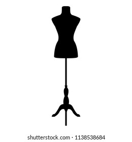 Fashion mannequin. Vector silhouette.