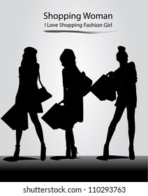 fashion model with silhouette girl