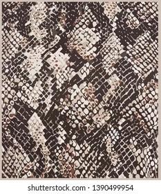 fashion pattern animal snake piton print hand drawn seamless pattern