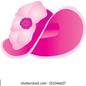 Fashion pink bonnet