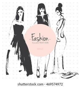 Pencil Sketches Dress Designs Images, Stock Photos \u0026 Vectors