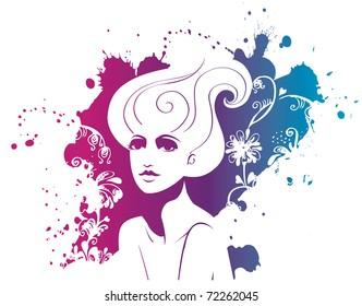 Fashion portrait of woman