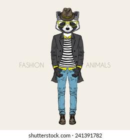 fashion raccoon
