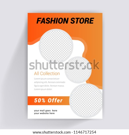 fashion sale brochure flyer design layout stock vector royalty free
