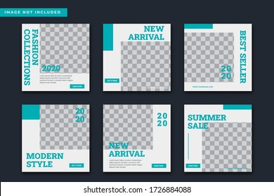 fashion sale social media feed post template Premium Vector