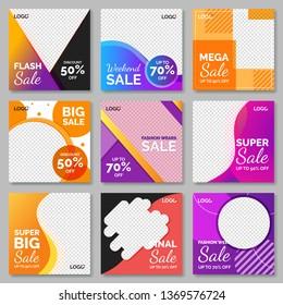 Fashion sale for social media post template. Vol.8