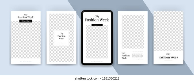 Fashion sale topics. Editable Instagram stories template. Streaming.
