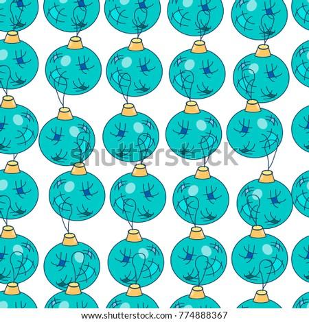 Fashion Seamless Christmas Pattern Glass Christmas Stock