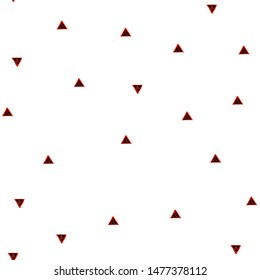 Fashion Seamless pattern with Triangles Black and Vivid red color. Can be used for printing on packaging, bags, cups, laptop, box, etc. Pattern under the mask. Vector.