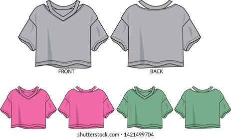 fashion shirts for girl vector template