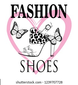 fashion shoes,butterfly,fashion,for t-shirt,slogan