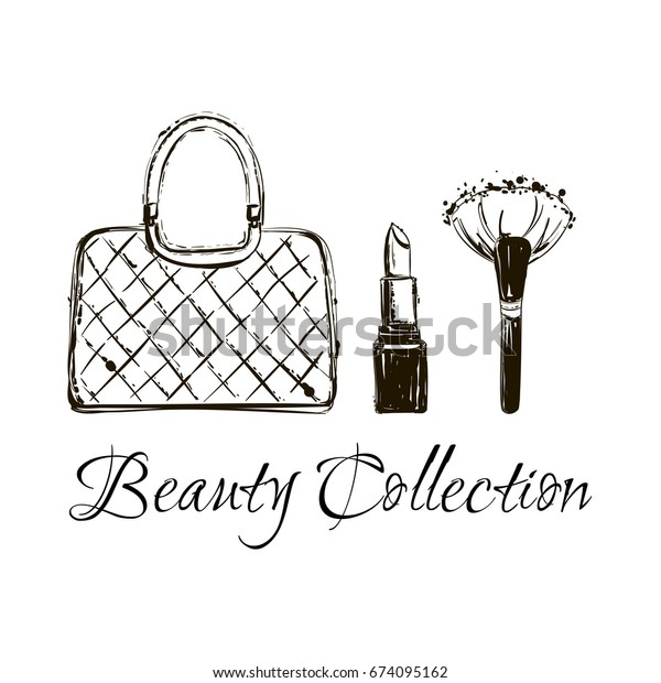 066aa9108af Fashion Sketch Set Hand Drawn Graphic Stock Vector (Royalty Free ...
