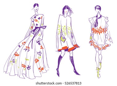500 Fashion Design Sketch Pictures Royalty Free Images Stock