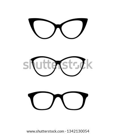 6540a427318 Fashion Style Glasses Vector Illustration Stock Vector (Royalty Free ...