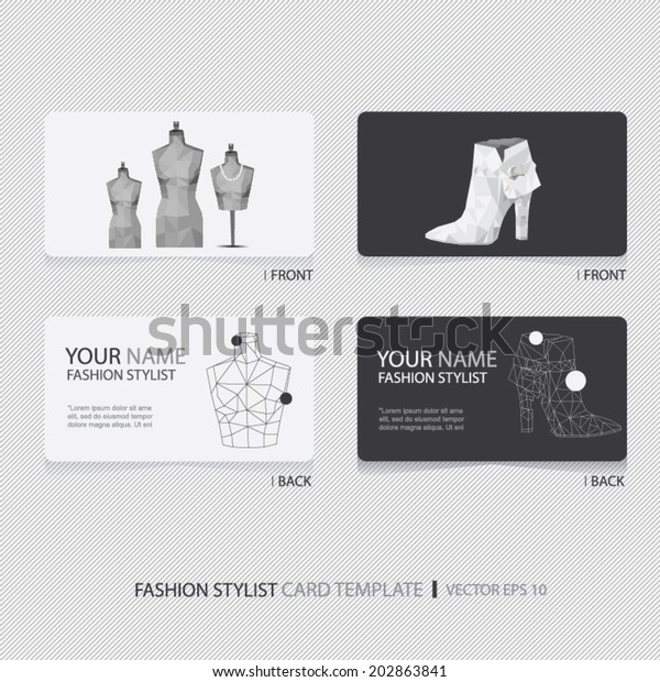 Fashion Stylist Designer Business Card Set Stock Vector Royalty Free 202863841
