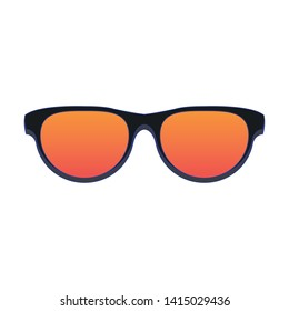 Fashion sunglasses accesory isolated cartoon vector illustration graphic design