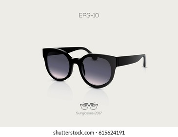 Fashion sunglasses. Realistic look. Vector illustration.