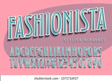 A fashion themed alphabet with a retro eighties or nineties flair
