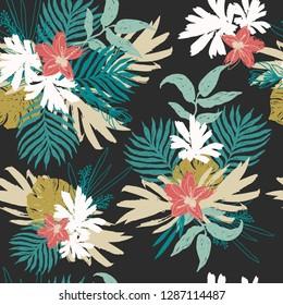 Fashion Tropical Floral Seamless Pattern