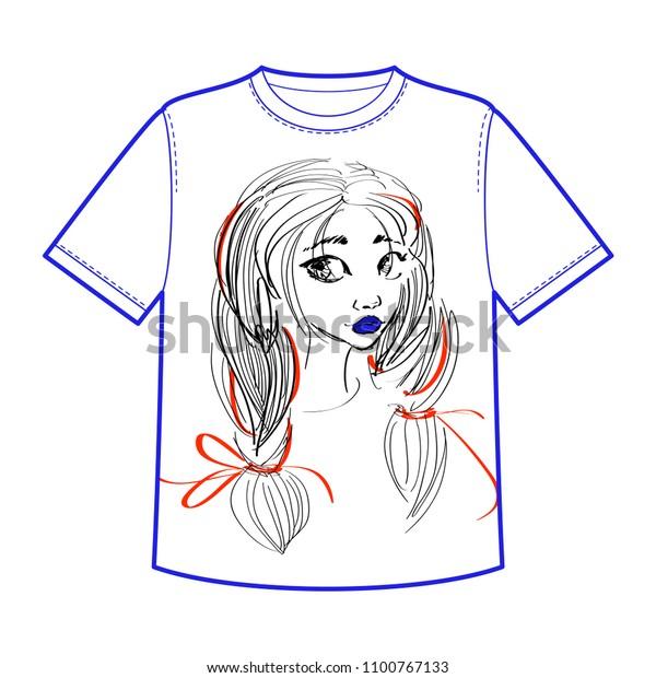 Fashion Tshirt Template Print Design Beautiful Stock Vector Royalty Free 1100767133
