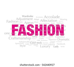 Fashion, Typography, Artistic, graphic design words