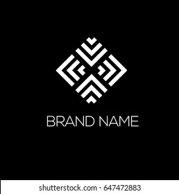 Fashion  vector logo design. Geometric ornament