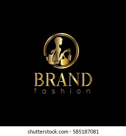 Fashion vector logo design template