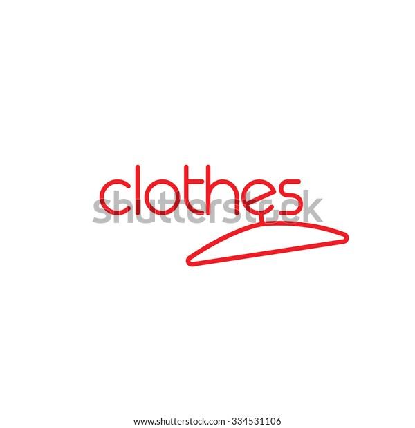Fashion Vector Logo Template Concept Clothes Stock Vector