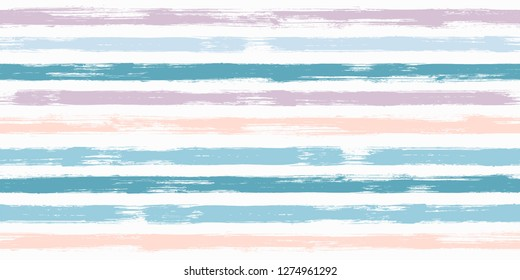 Fashion watercolor brush stripes seamless pattern. and paintbrush lines horizontal seamless texture for backdrop. Hand drown paint strokes design artwork. For illustration.