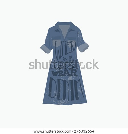 Fashion Woman Dress Words When Doubt Stock Vector (Royalty