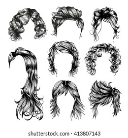 Curly Hair Drawing Images Stock Photos Vectors Shutterstock